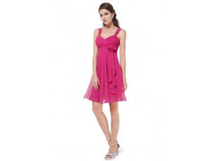 Plesové šaty krátké růžové Ever Pretty 3266 (Velikost 3XL / 48 / 16 / 20)
