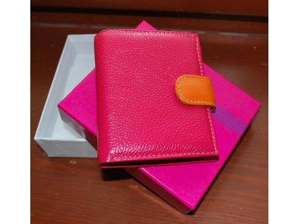 Peněženka kožená v pestrých barvách od Elega růžová