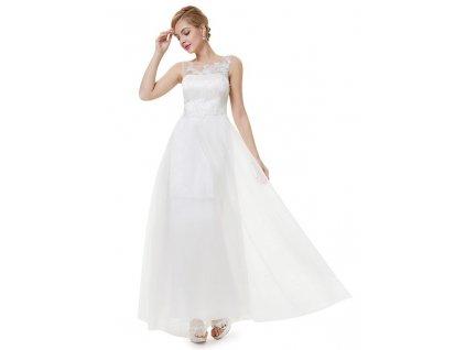Svatební šaty dlouhé ivory Ever Pretty s krajkou 8447 (Velikost 3XL / 48 / 16 / 20)