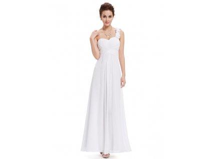 Jemné plesové, svatební šaty na jedno rameno Ever Pretty 9768 (Velikost 3XL / 48 / 16 / 20)