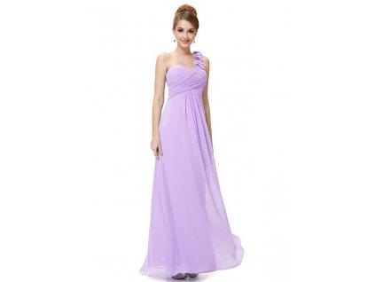 Ever Pretty plesové šaty fialové 9768 QP (Velikost 3XL / 48 / 16 / 20)