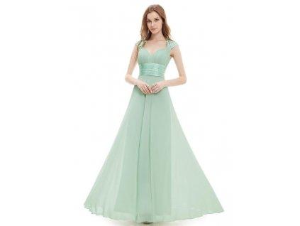 Ever Pretty plesové šaty s flitry mentolové 9672 (Velikost 3XL / 48 / 16 / 20)
