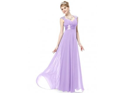 Ever Pretty plesové šaty s flitry sv. fialová 9672 (Velikost 3XL / 48 / 16 / 20)