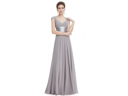 ef27ca76cd1 Ever Pretty plesové šaty s flitry šedé 9672 (Velikost 3XL   48   16