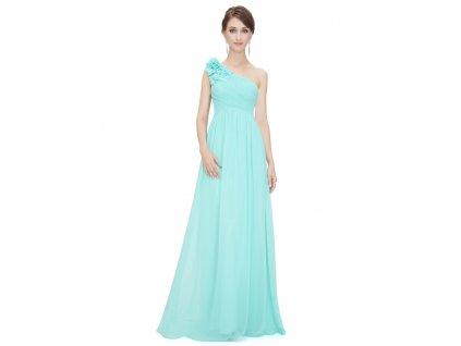 Ever Pretty plesové šaty tyrkysové 8237 LB (Velikost 3XL / 48 / 16 / 20)