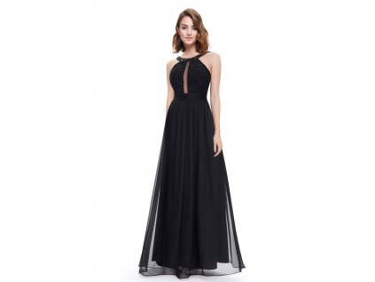 Ever Pretty šaty dlouhé černé 8572 (Velikost 3XL / 48 / 16 / 20)