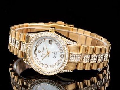 A Yves Camani YC1043-C unisex hodinky s kamínky