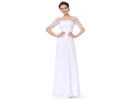 Bílé šaty Ever Pretty plesové šaty dlouhé 8459 78d74a14167