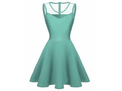 A Letní šaty krátké mentolové 3113