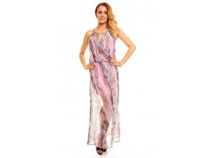 A Letní dlouhé šaty šifonové HS266