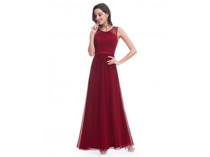 2e74167278f Ever Pretty plesové šaty s jemnou krajkou vínové 8742