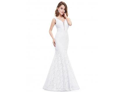 Svatební bílé šaty mořská panna