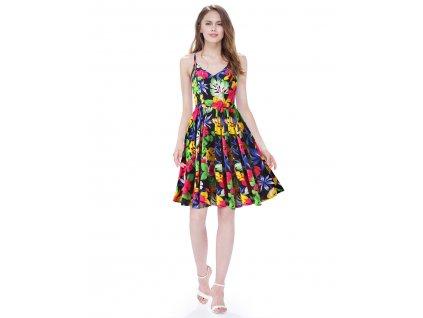 Ever Pretty krátké šaty květinové 5532