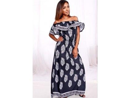 A Dlouhé letní šaty vzorované 8617-1