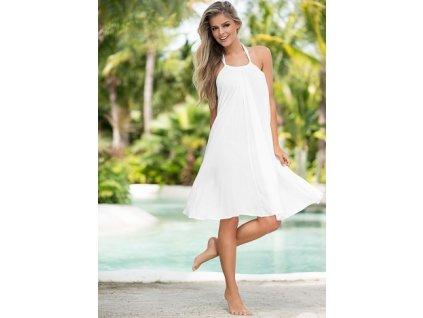 A Letní plážové šaty krátké bílé 4683-2 e476c8b808