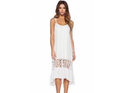 White Midi Jersey Dress LC60100