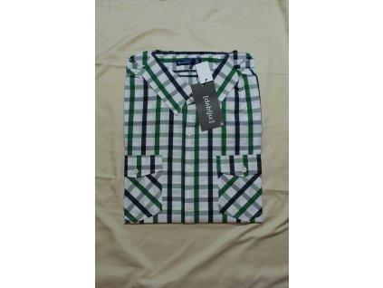 Pánská košile kostkovaná zelená 2524