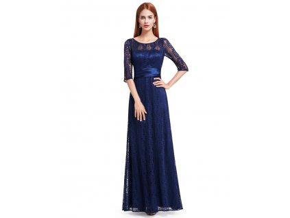Dlouhé plesové šaty krajkové s rukávem