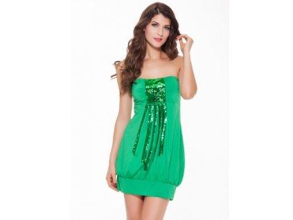 zelené minišaty