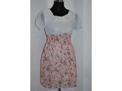 Letní krátké šaty s květovanou sukní