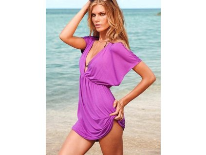 Pink Classic Beach Cover up LC40367 3 grande