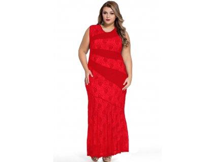 6cbcd244529 Red Stylish Lace Splice Plus Size Mermaid Prom Dress LC61047 3 16046. A  Elegantní dlouhé červené šaty ...