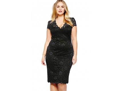 DL6415 Midi dress deep V neck women dresses short sleeve full lace plus size bodycon dress
