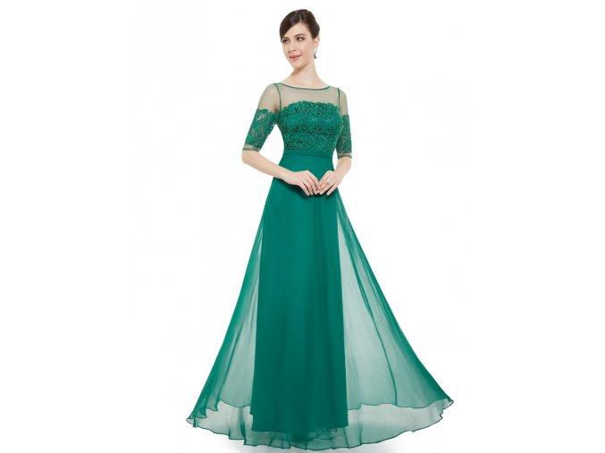 Elegantní Ever Pretty plesové šaty zelené 8459 (Velikost 3XL / 48 / 16 / 20)