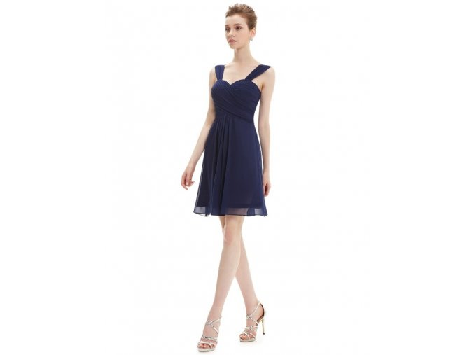 Plesové šaty krátké tmavě modré Ever Pretty 3539 (Velikost 3XL / 48 / 16 / 20)
