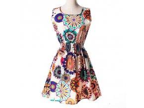 Letní krátké šaty nevšední vzory 7