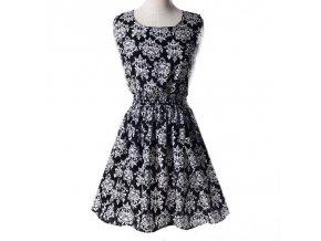 Letní krátké šaty černé vzory 18
