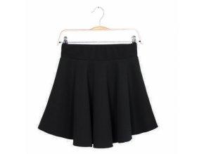 Sukně letní mini jednobarevná černá