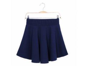 Sukně letní mini jednobarevná modrá