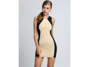 Elegantní pouzdrové šaty dvoubarevné 259