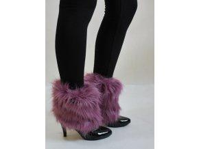 Chlupaté návleky na boty růžové