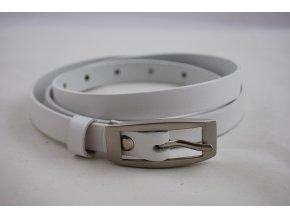 Dámský kožený opasek bílý pásek úzký 15-2-00