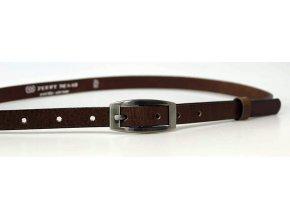 Dámský kožený pásek15-2-48 tmavě hnědý