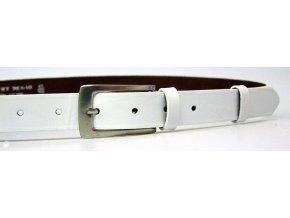 Dámský kožený opasek 176-00 bílý