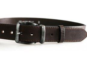 Pánský kožený pásek hnědý 01-1-40