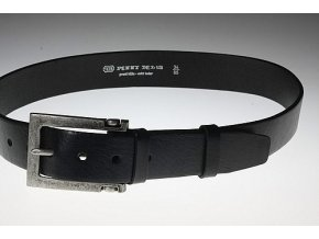 Pánský kožený pásek černý 23-60