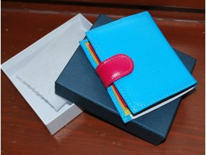 Peněženka kožená v pestrých barvách od Elega modrá