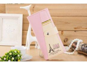 Dámská peněženka s Eiffelovka světle růžová WS003