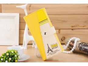 Dámská peněženka s Eiffelovka žlutá WS005