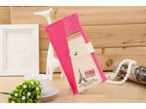 Dámská peněženka s Eiffelovka růžová WS006