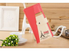 Dámská peněženka s Eiffelovka lososová WS007