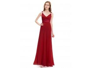 Ever Pretty plesové šaty červené 9601 (Velikost 3XL / 48 / 16 / 20)