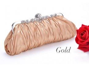 Společenská kabelka, psaníčko zlaté úzké