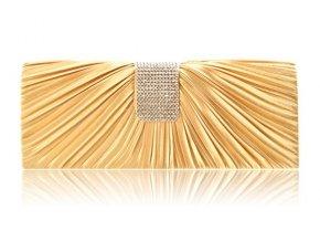 Společenská kabelka, psaníčko se štrasem zlaté