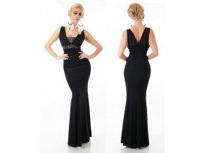 Queen O.F. plesové šaty černé ST153 Gold