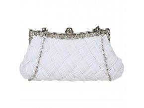 Společenská kabelka, psaníčko bílá barva